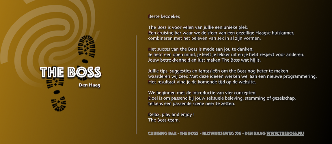 welkom bij the Boss Den Haag
